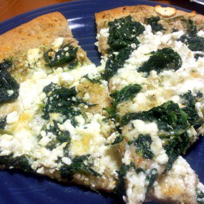 Pesto, Spinach, & Feta Pizza