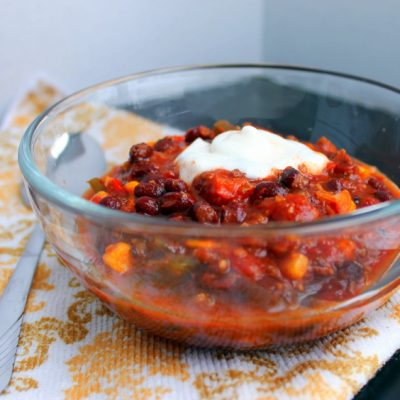 Black Bean & Chorizo Chili