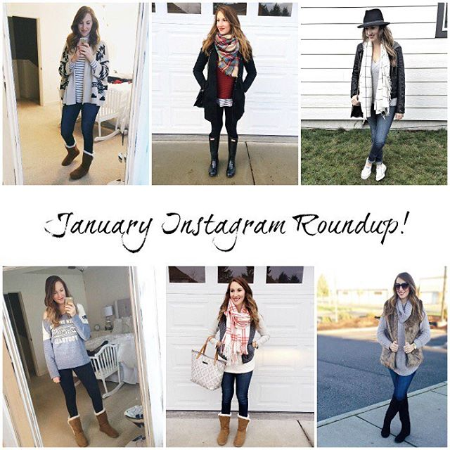 january instagram outfit roundup on the blog today! link inhellip