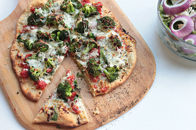 Spinocooli Pizza