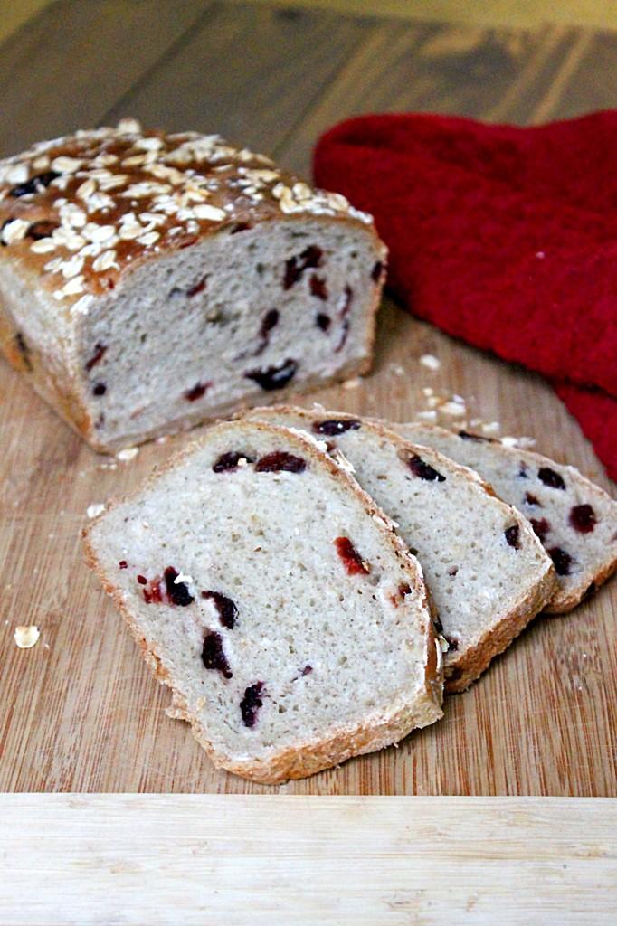 Cranberry Honey Oat Bread