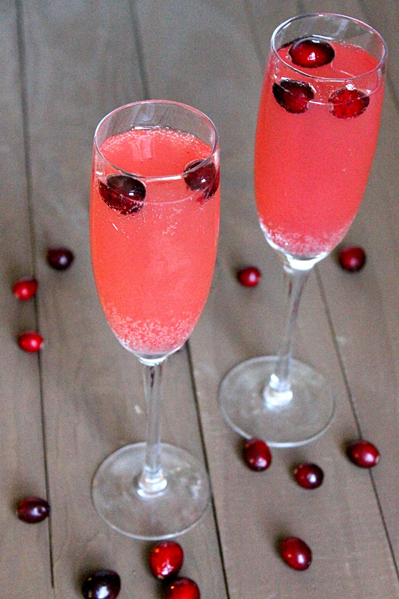 Cranberry Apple Spritzers