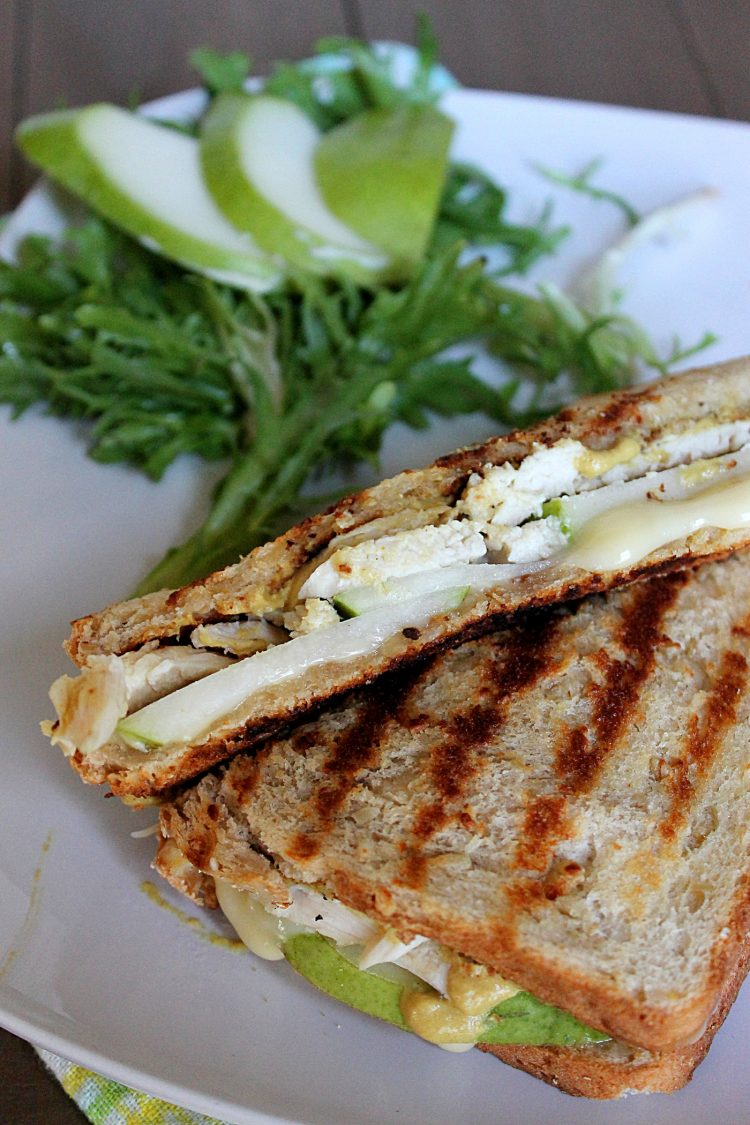 chicken brie and pear panini