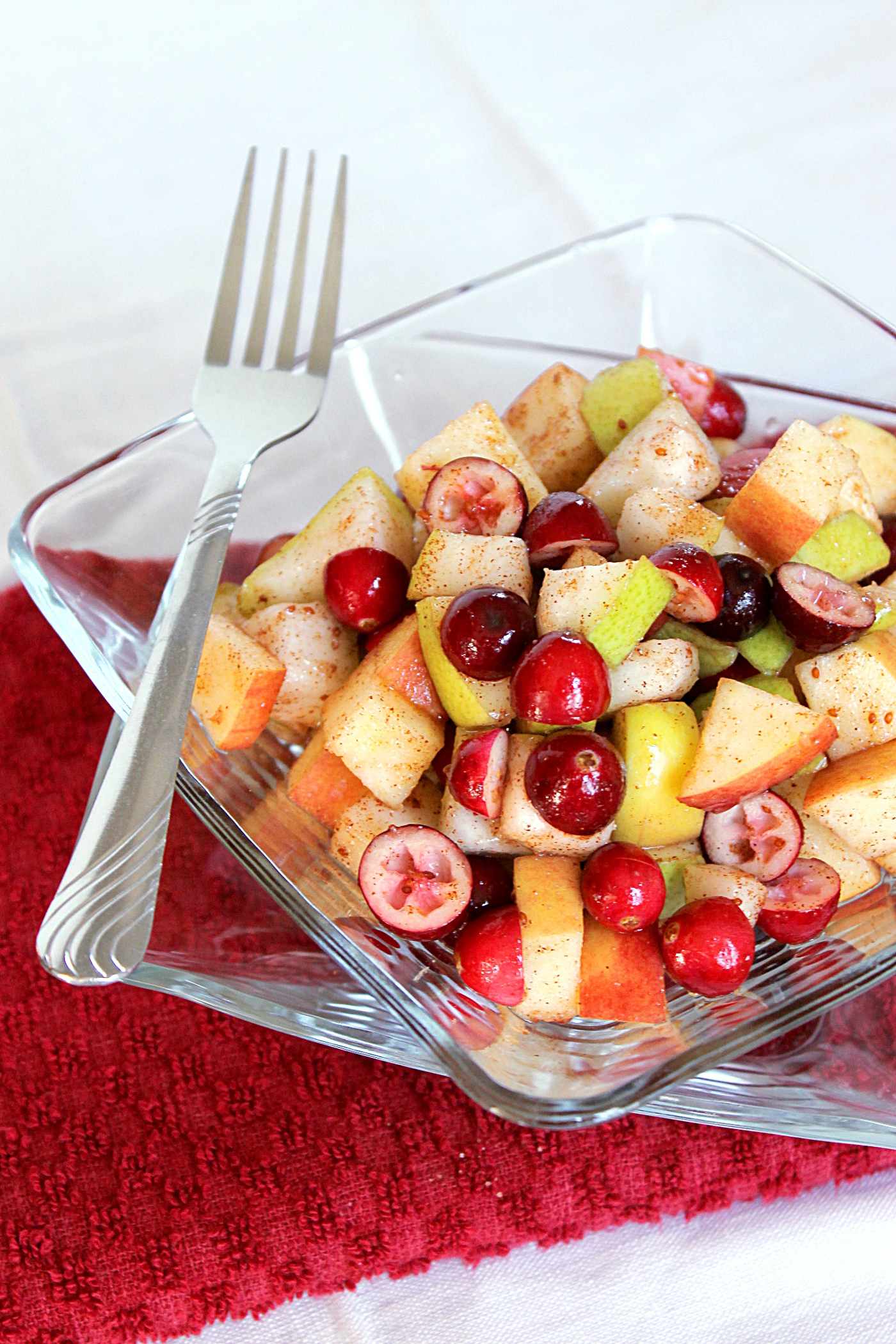 Apple Pear Slaw via Fabtastic Eats #apples #pears #cranberries #slaw #salad #fruit