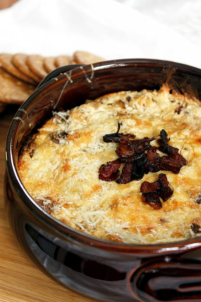 Bacon, Caramelized Shallots, and Swiss Dip | Fabtastic Eats