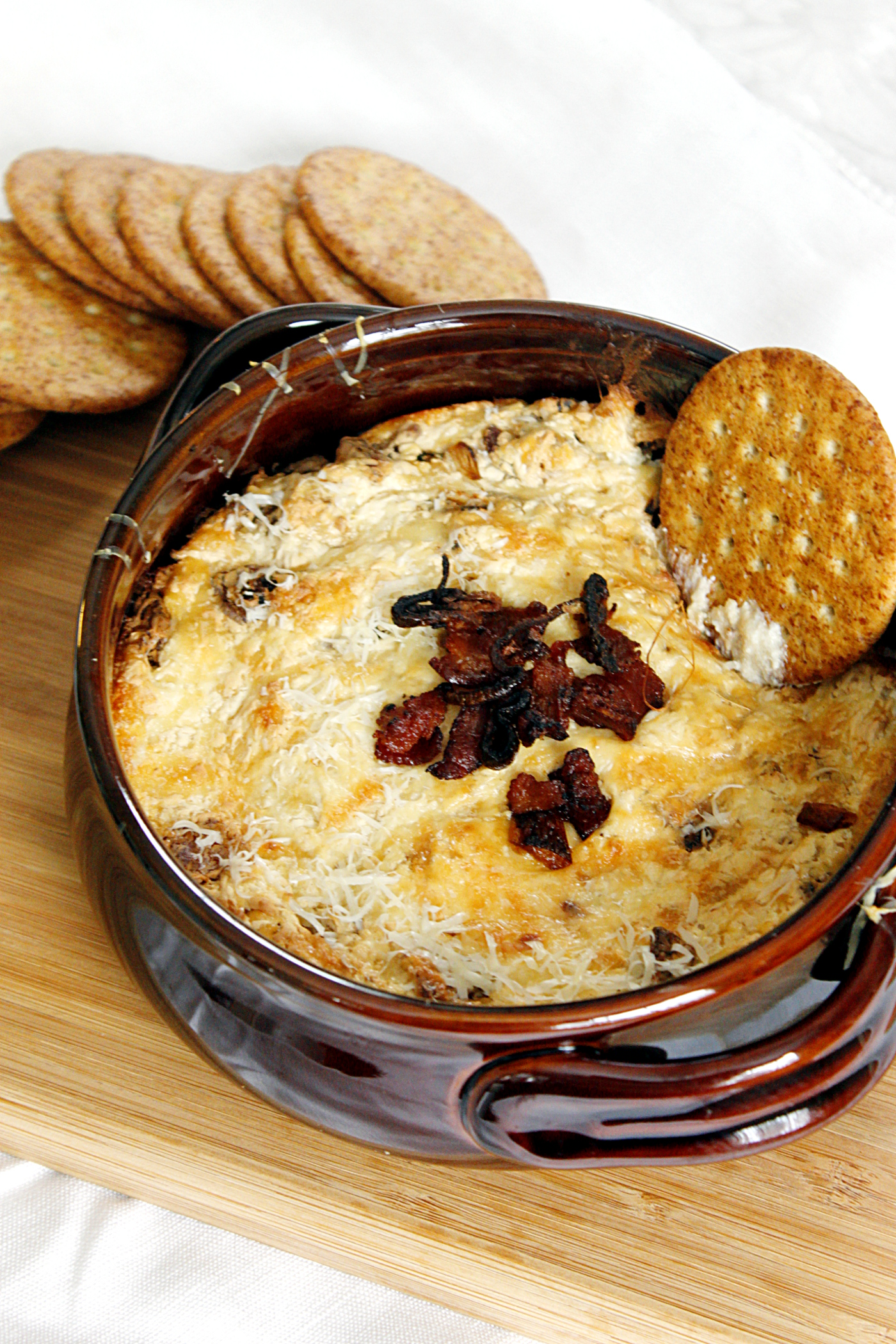 Bacon, Carmelized Shallots, and Swiss Dip
