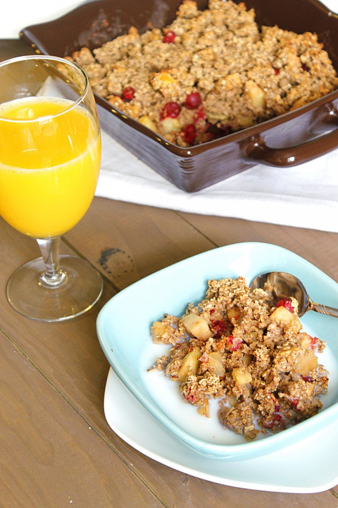 Apple-Cranberry Oatmeal Bake