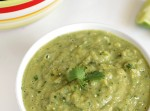 Roasted Tomatillo and Avocado Salsa Verde | Fabtastic Eats