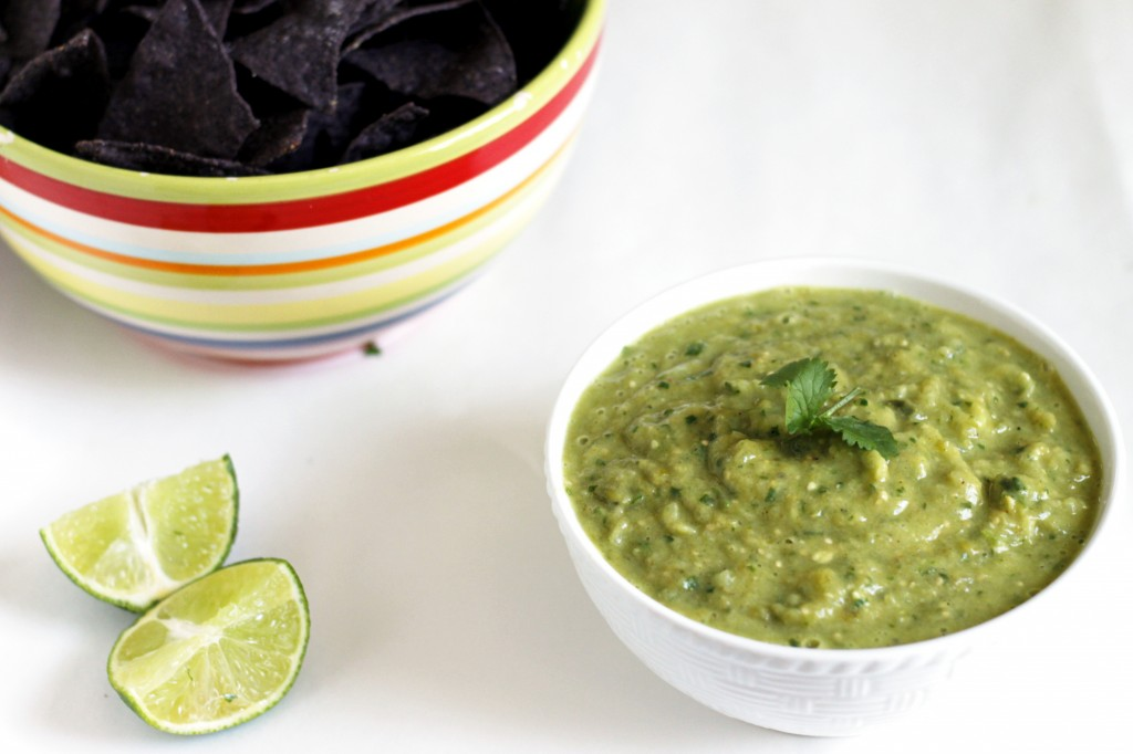Roasted Tomatillo and Avocado Salsa Verde