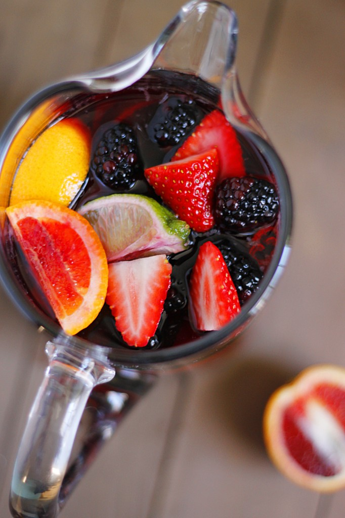 Blood Orange Blackberry Sangria | Fabtastic Eats