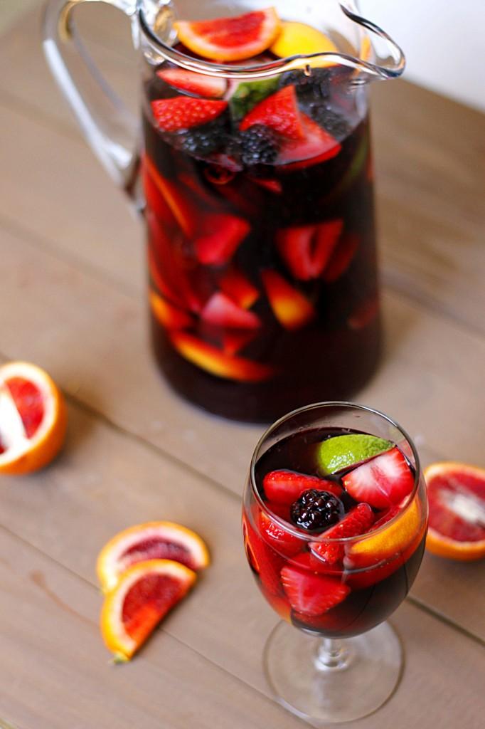 Blood Orange Blackberry Sangria   Fabtastic Eats