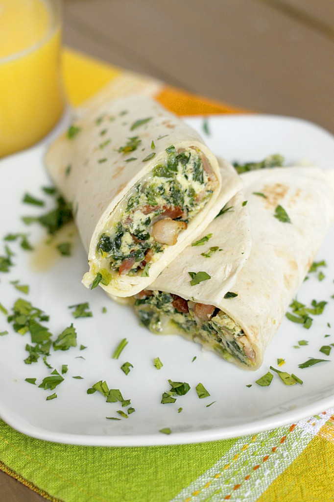 One Skillet Breakfast Burritos | Fabtastic Eats