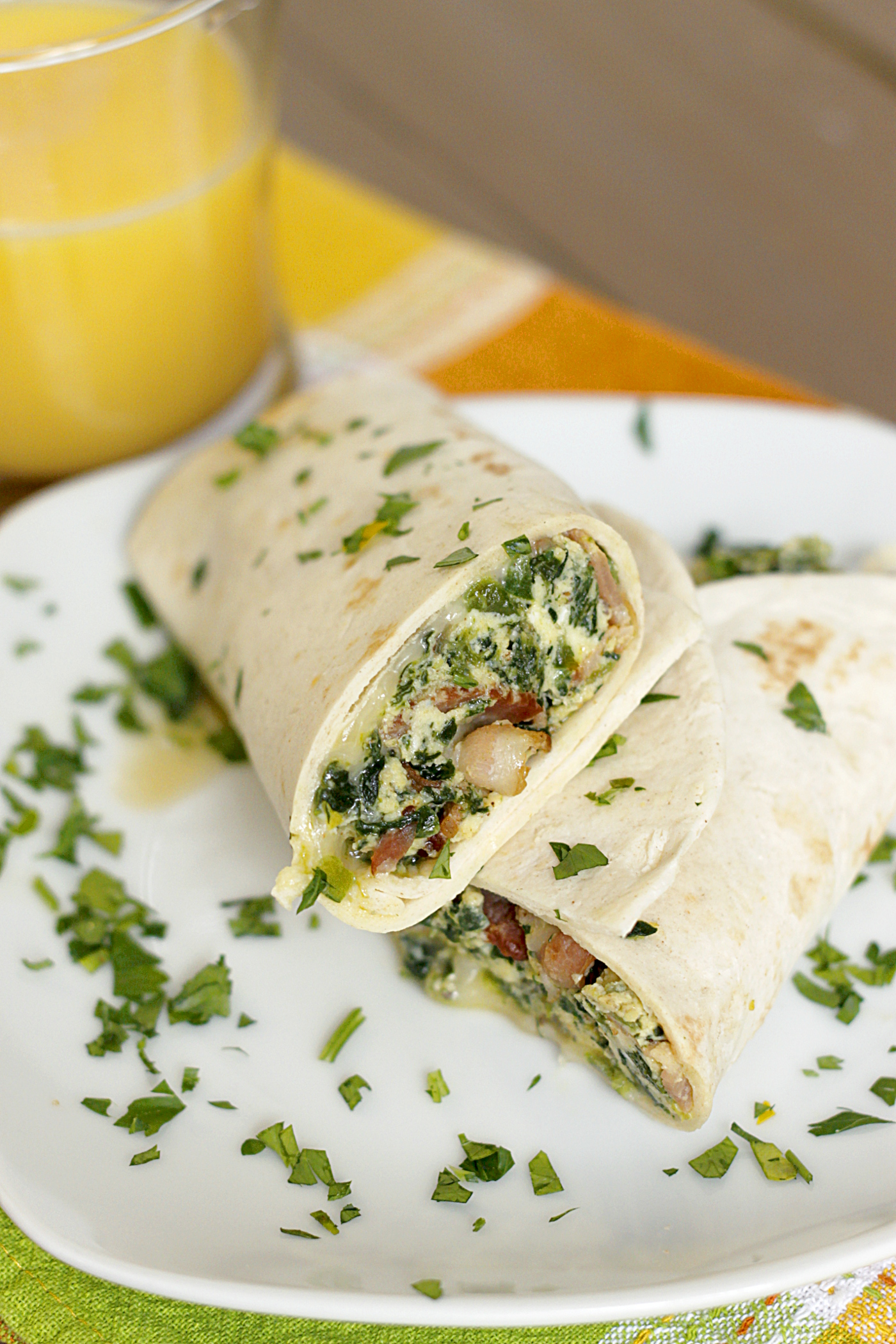 One Skillet Breakfast Burritos
