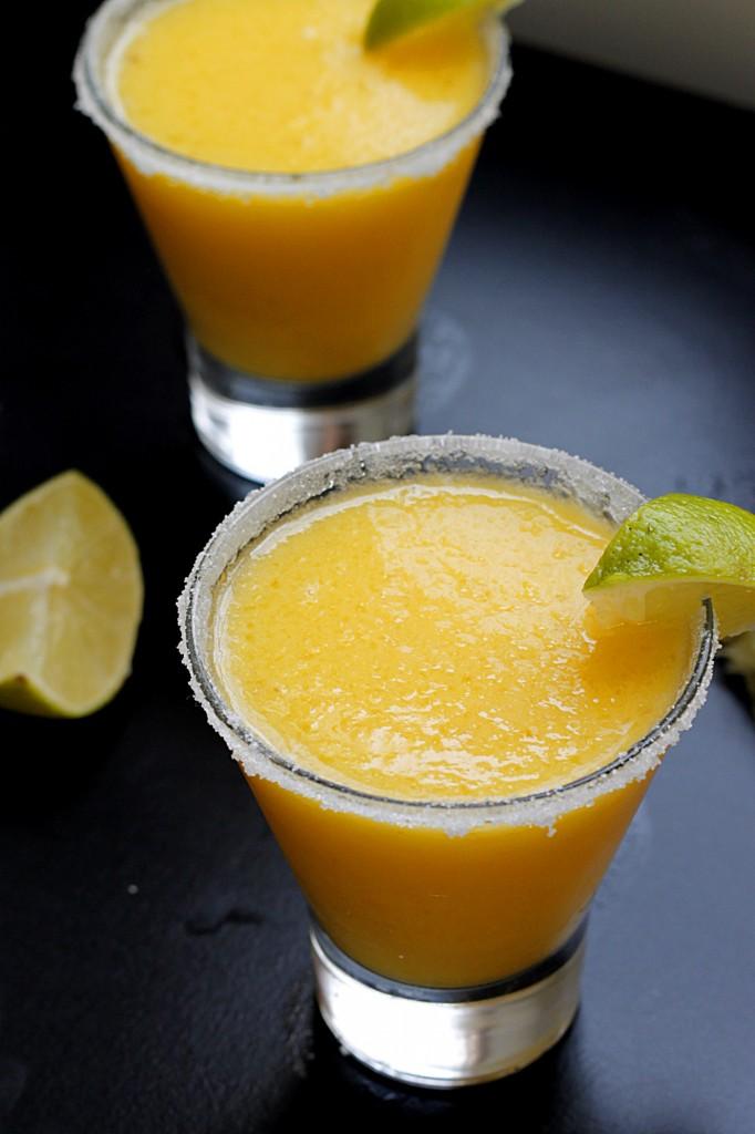 Frozen Pineapple Mango Margarita | Fabtastic Eats