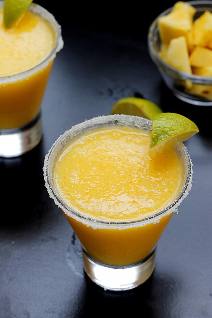 Frozen Pineapple Mango Margaritas | Fabtastic Eats