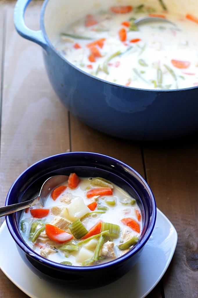 Skinny Chicken Pot Pie Soup