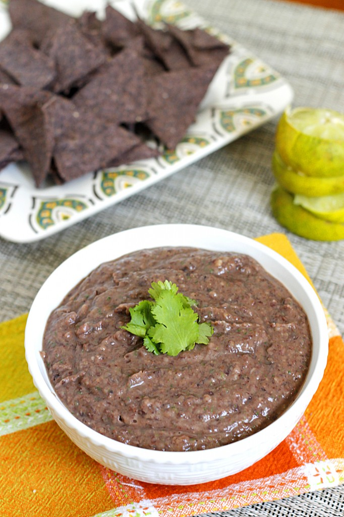Lime Spiked Black Bean Dip | Fabtastic Eats