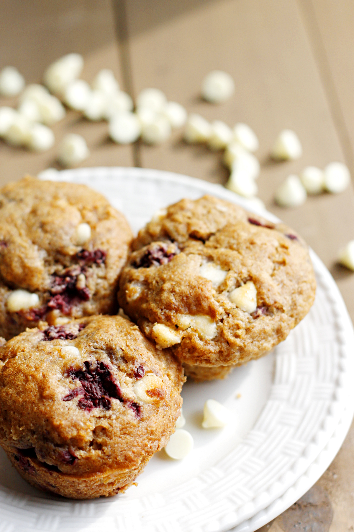 Blackberry White Chocolate Muffins