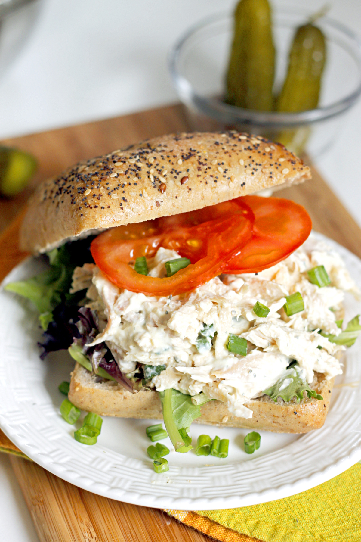 Lighter Ranch Chicken Salad Sandwich
