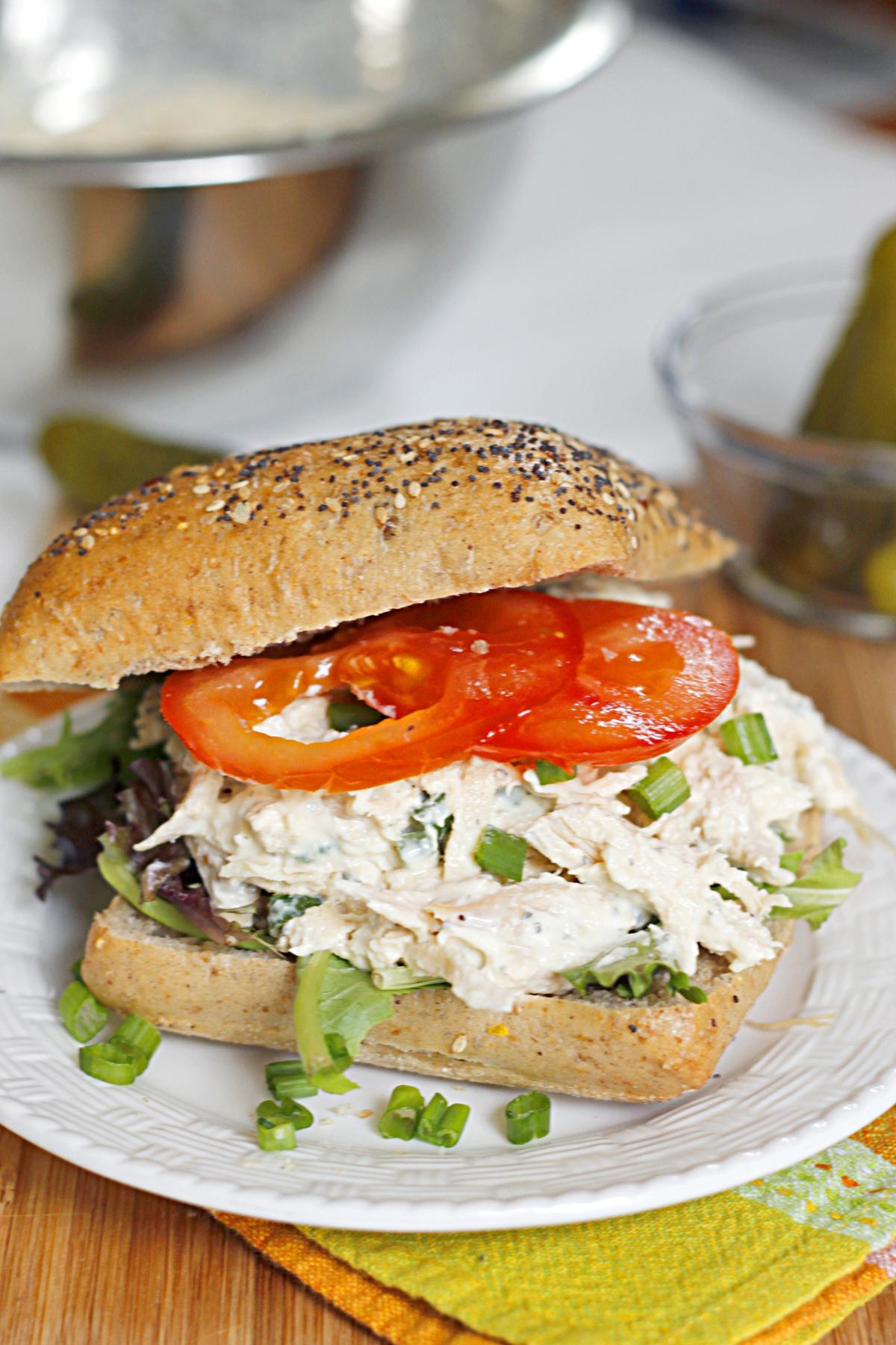 belle vie - Lighter Ranch Chicken Salad Sandwich - belle vie