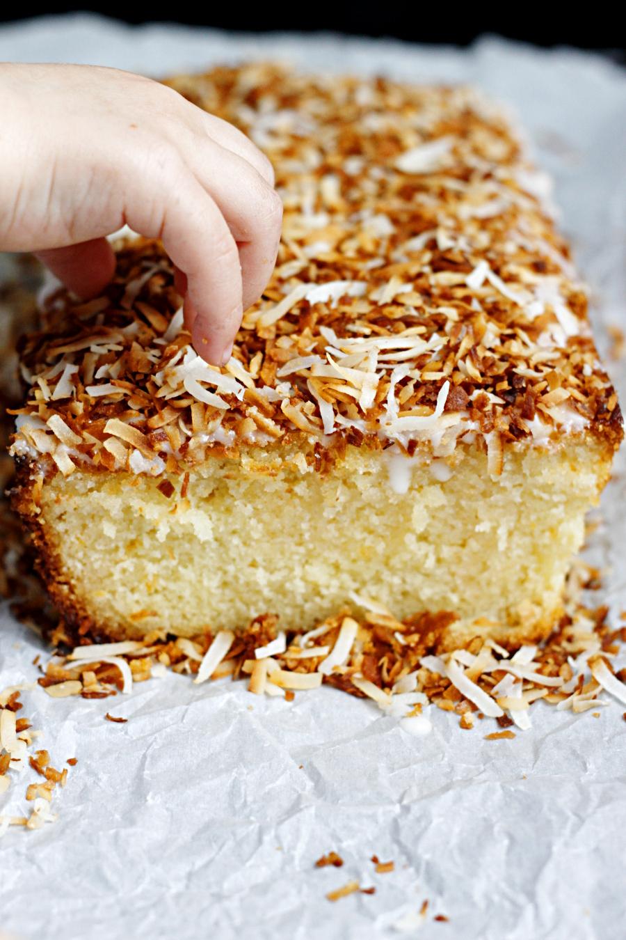 Coconut Grapefruit Loaf Cake