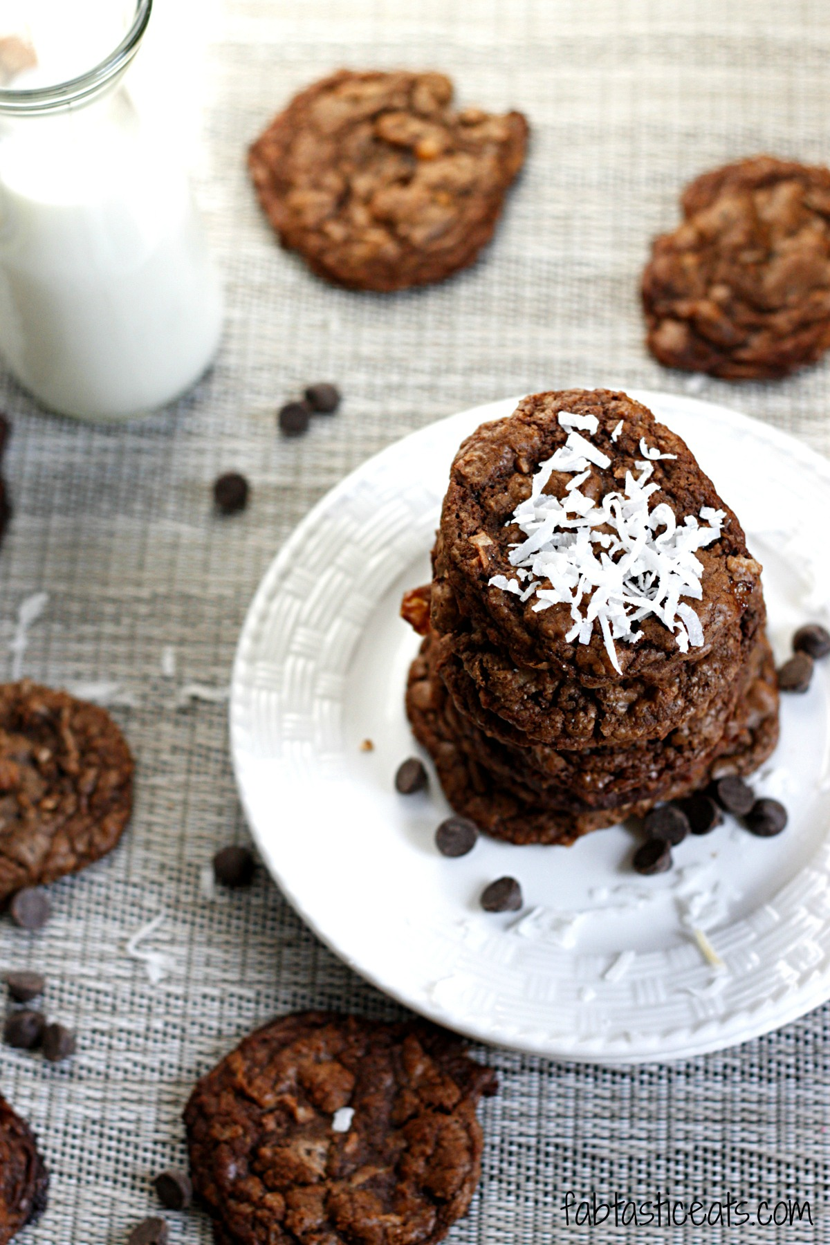 belle vie - Espresso Caramel Coconut Dark Chocolate Cookies - belle ...