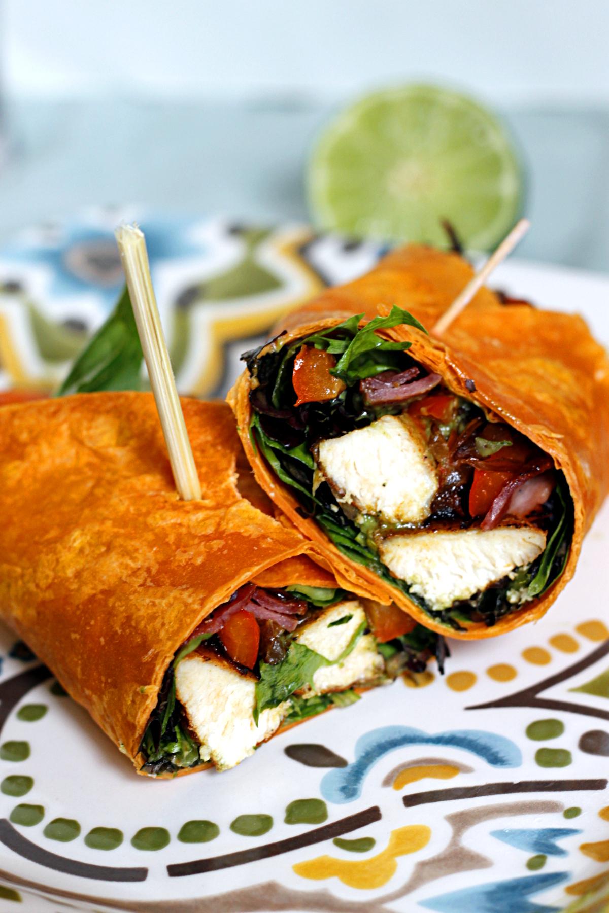Sizzling Fajita Salad Wrap