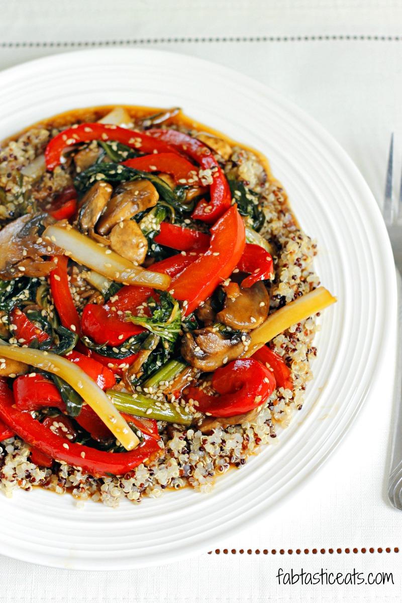 Quinoa and Bok Choy Veggie Stir Fry