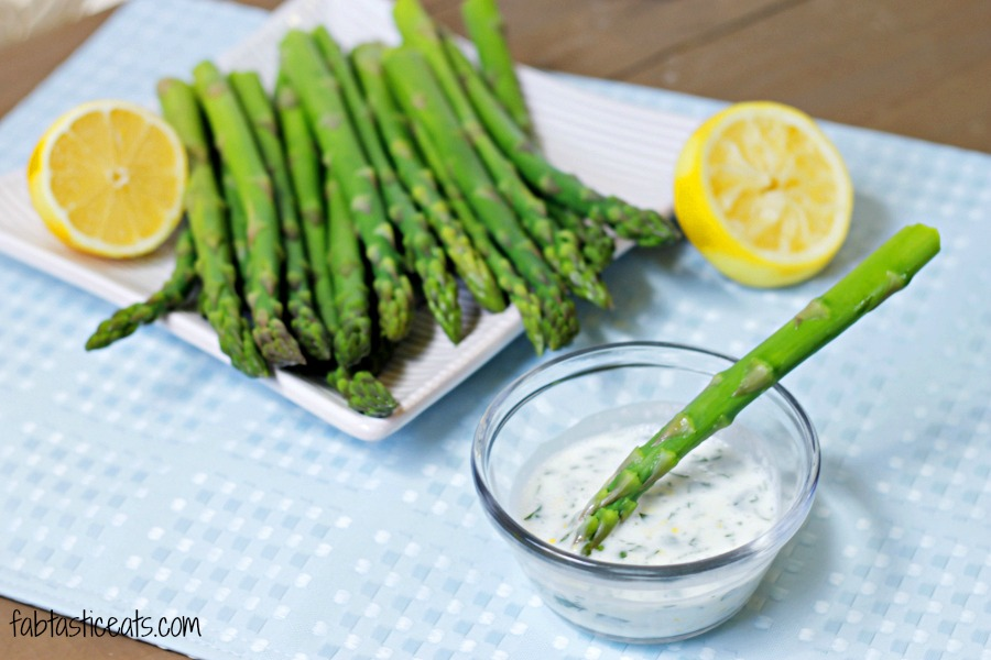 Asparagus with Lemon Garlic Sauce