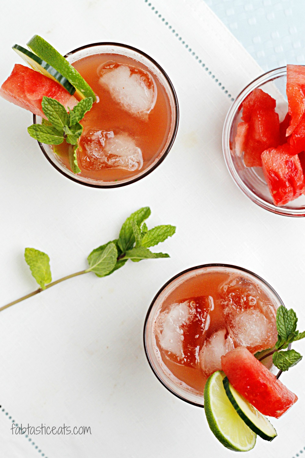 Watermelon Cucumber Mint Cooler
