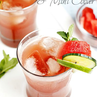 Watermelon Cucumber & Mint Cooler {For Happy Hour!)