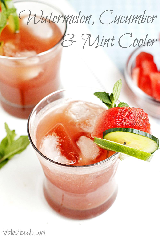 Watermelon Cucumber Mint Cooler