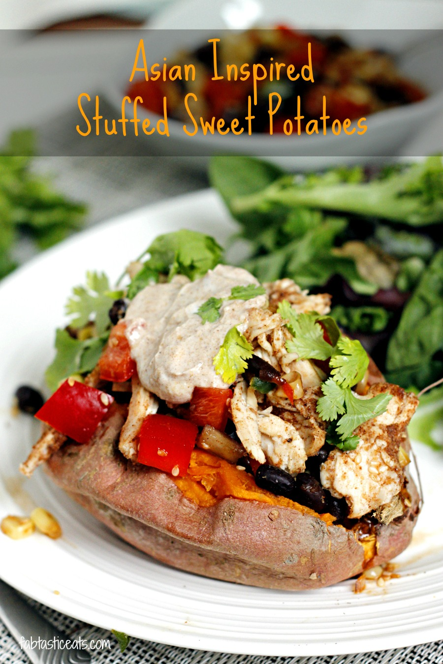 Asian Inspired Stuffed Sweet Potatoes