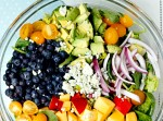 Blueberry and Nectarine Salad with Avocado Citrus Vinaigrette