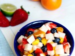 Jicama Fruit Salad with a Cinnamon Lime Glaze