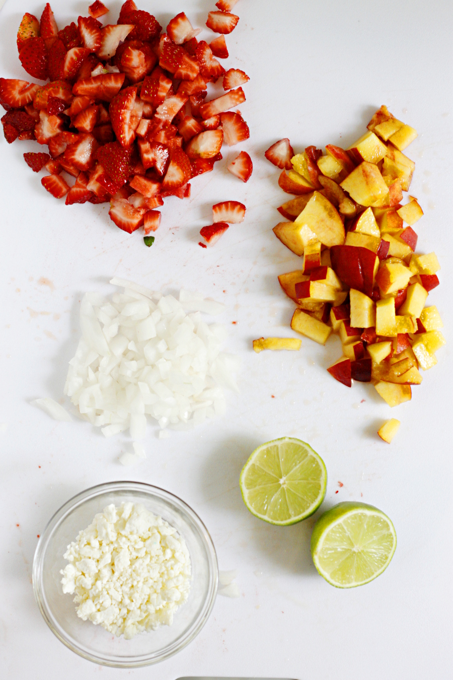 Strawberry and Peach Guacamole
