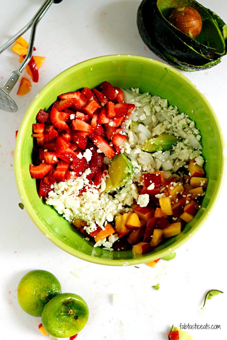 Strawberry and Peach Guacamole