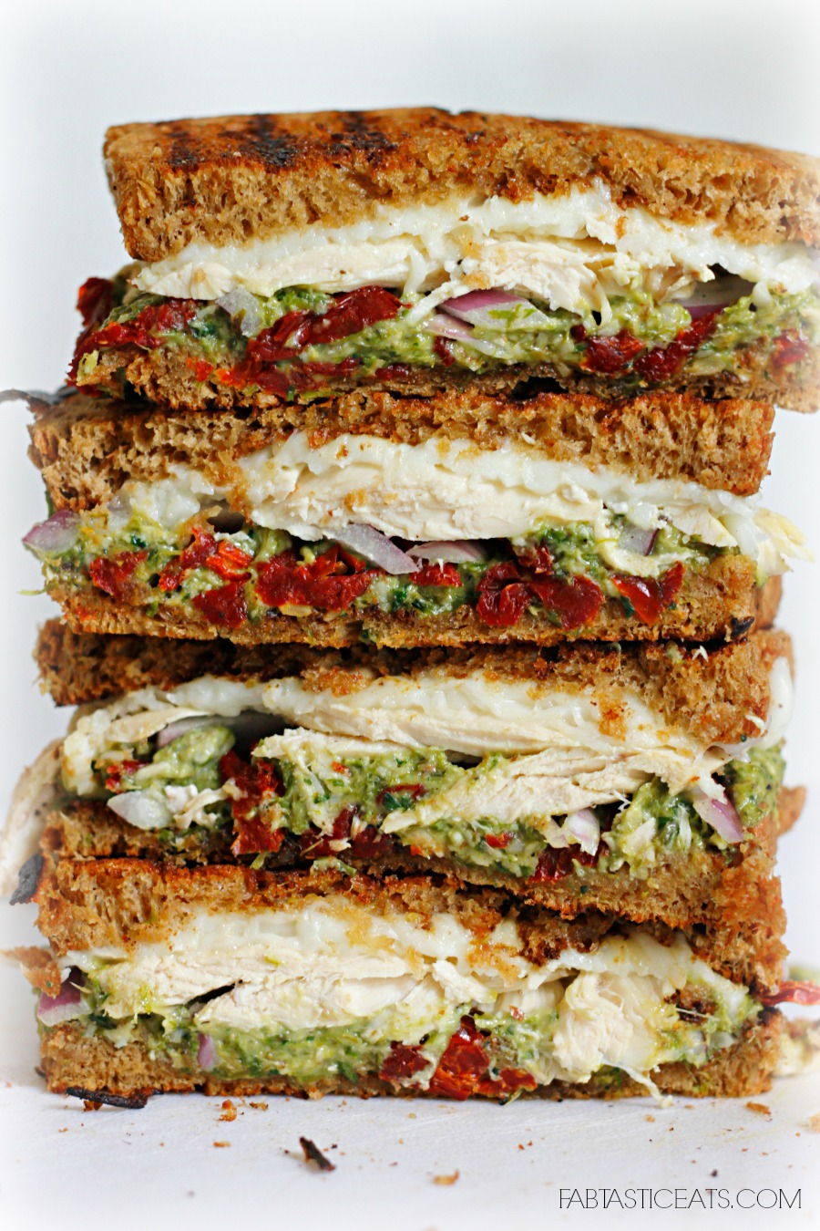 Chicken, Sun-dried Tomato, and Asparagus Pesto Sandwich