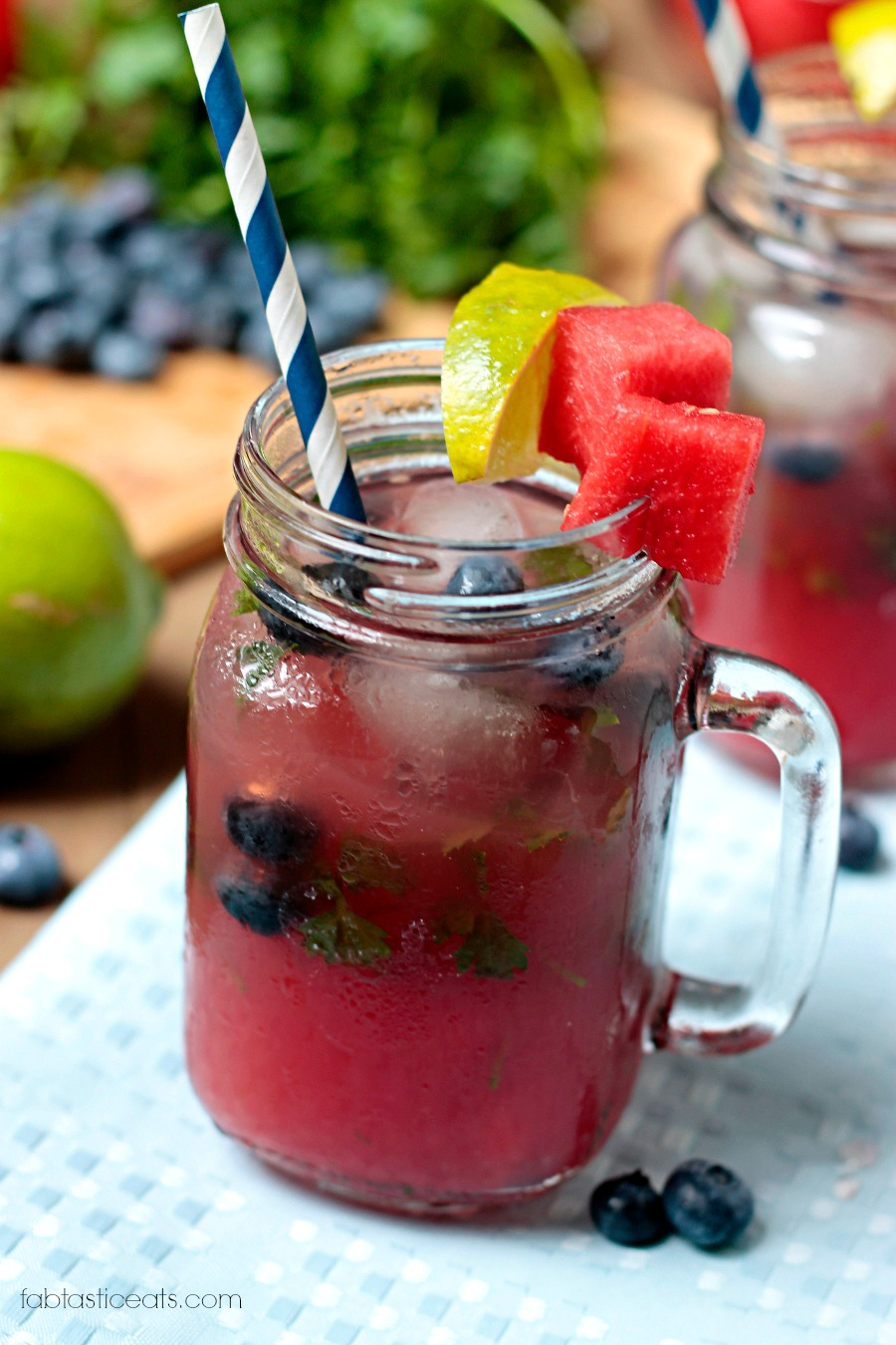 Boozy Blueberry & Herb Lemonade