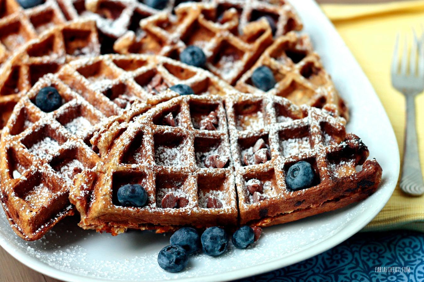 Cinnamon Chip Waffles | Fabtastic Eats