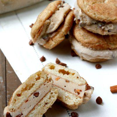 Snickerdoodle Biscoff Ice Cream Sandwiches
