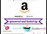 $500 Amazon Giftcard Giveaway | Fabtastic Eats