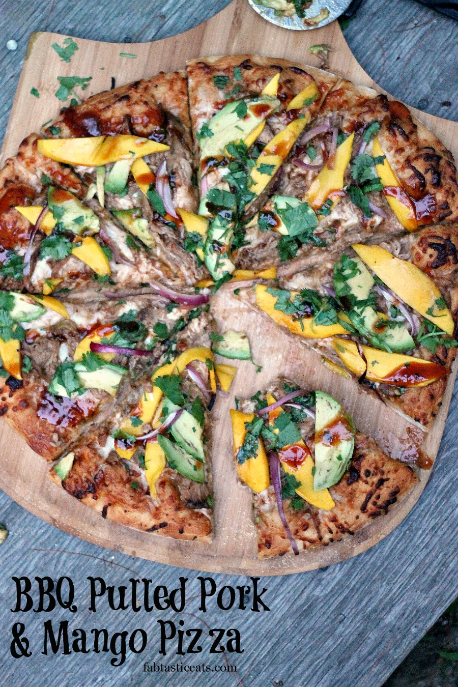 BBQ Pulled Pork & Mango Pizza