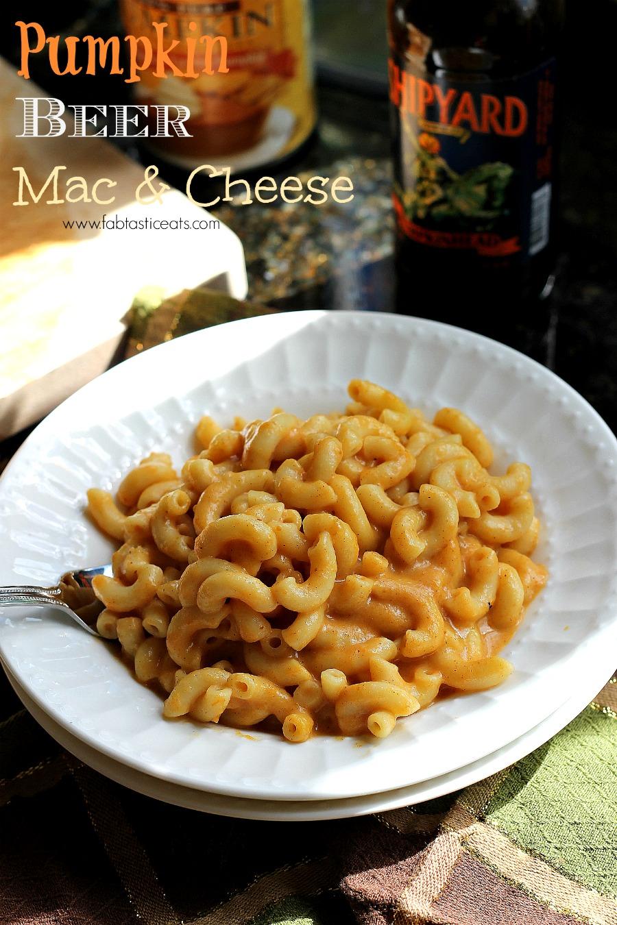 Pumpkin Beer Macaroni and Cheese   Fabtastic Eats