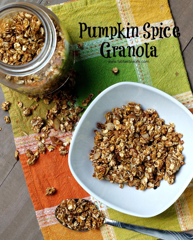 Pumpkin Spice Granola | Fabtastic Eats