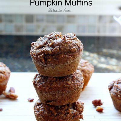 Whole Wheat Flax Bran Pumpkin Muffins