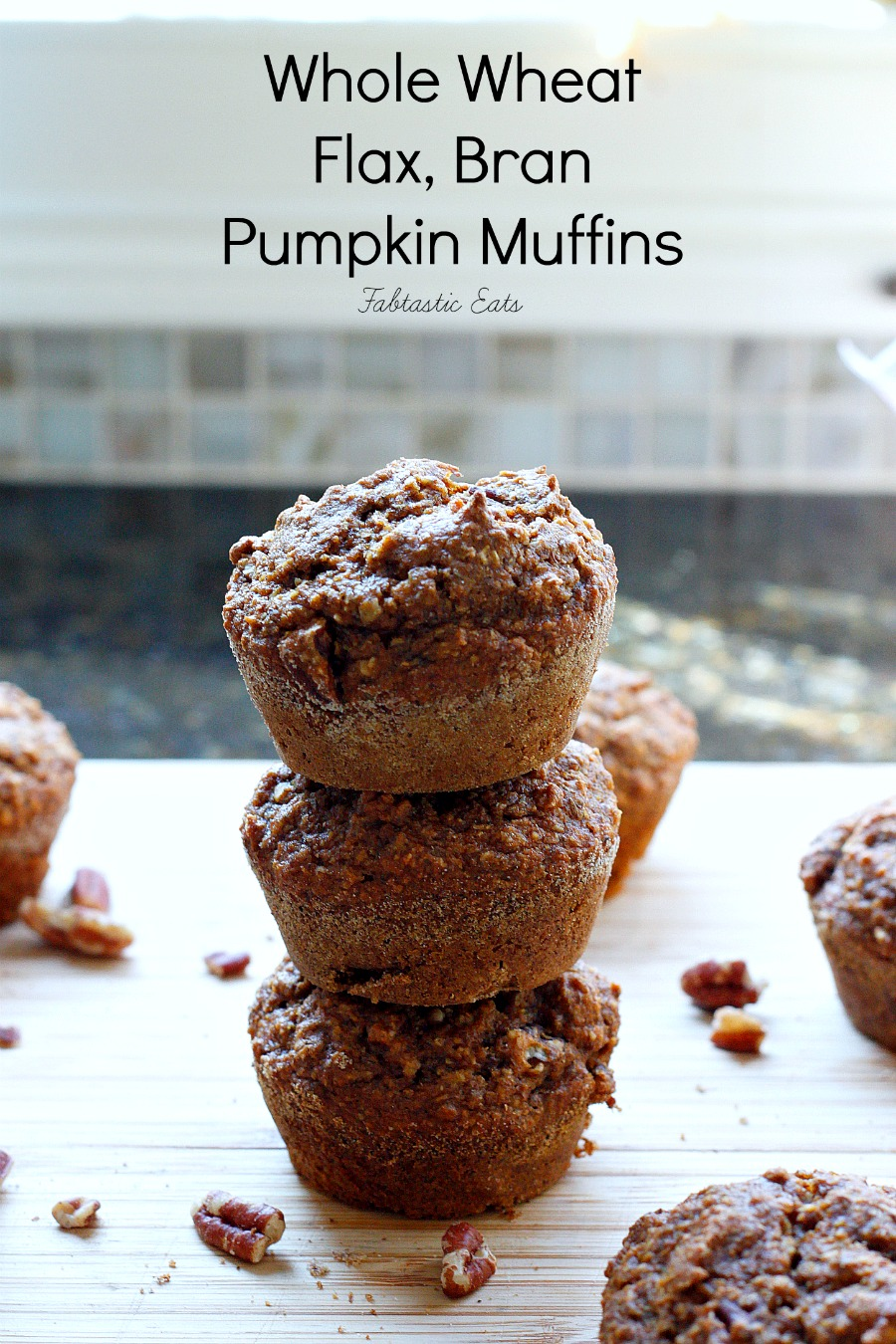 Healthy, good for you, pumpkin muffins, made with whole wheat flour ...