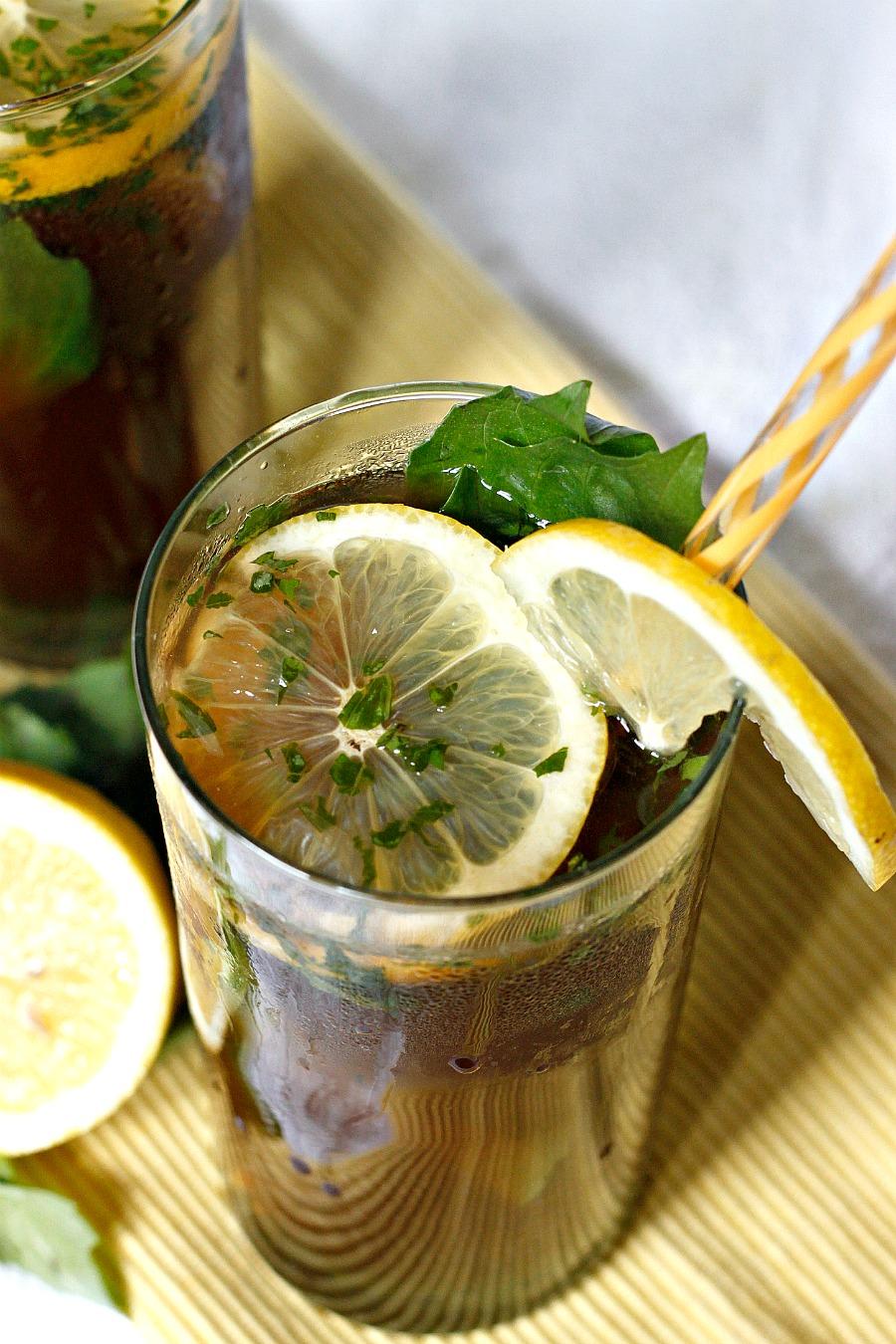 Basil Hibiscus Lemonade | Fabtastic Eats
