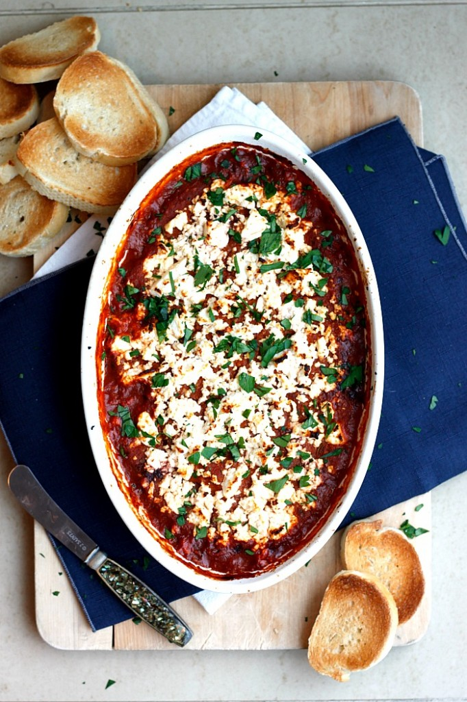 Baked Feta Romesco with Olive Tapenade | Fabtastic Eats