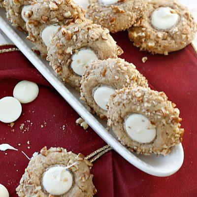 Eggnog, White Chocolate, and Pecan Cookies